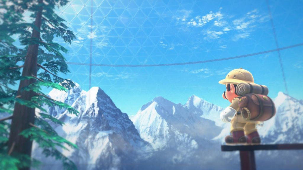 Mario celebrates Mountain Day in Super Mario Odyssey