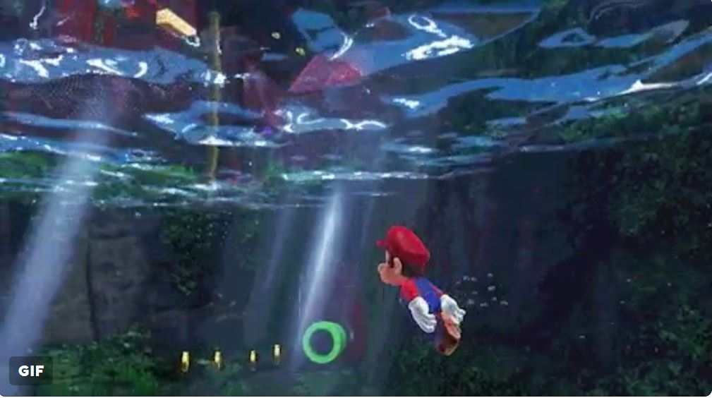 Super Mario Odyssey swimming mechanics revealed in underwater clip
