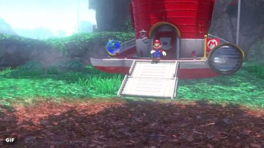 Mario commands The Odyssey in style with this neat fold out ramp